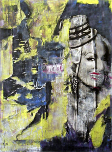 keep smiling if u can © 2012, 91x121 cm, canvas, affichepaper, acryllic, clear laquer by courtesy of DZian Gallery, Natick, MA/USA